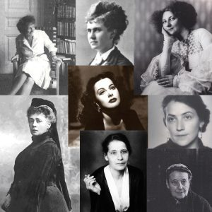 Collage Frauenvielfalt | Suttner | Harand | Lamarr | Meitner | Schütte-Lihotzky